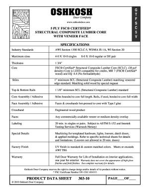 Fill Online  sc 1 st  PDFfiller & Fillable Online PRODUCT DATA SHEET 303-10 G T F S C 5 V - Oshkosh ...