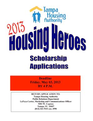 Tampa Housing Authority Scholarship