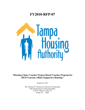 FY2010 RFP 07   The Tampa Housing Authority