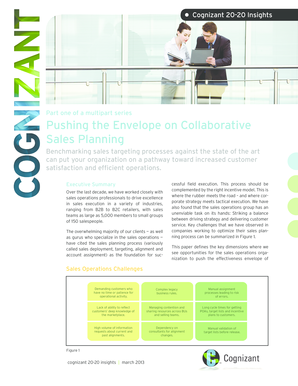 Pushing the Envelope on Collaborative Sales Planning - Cognizant