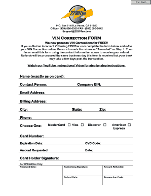 2290 form to print  Fillable Online VIN Correction FORM - Form 7 Heavy ...
