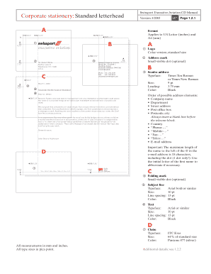 standard letterhead format