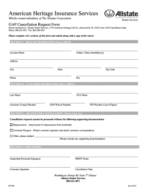 Harley Davidson Gap Cancel Form - Fill Online, Printable, Fillable ...