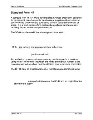 standard form 44  Standard Form 8 Fillable - Fill Online, Printable, Fillable ...