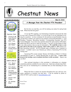 March PTA Newsletter - North Olmsted City Schools