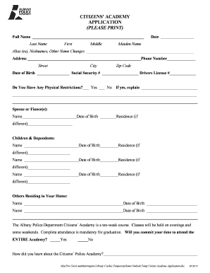 Baseball position template forms fillable printable samples citizen academy application city of albany cityofalbany pronofoot35fo Choice Image