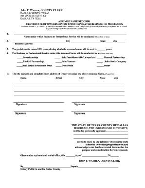 dallas county clerk fill online printable fillable blank