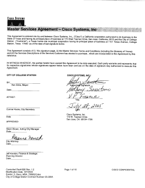 Exhibit 3 Cisco Master Service Agreement - City of College Station ...