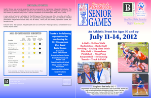 2012 Bremerton West Sound Senior Games are one avenue towards this goal - ci bremerton wa