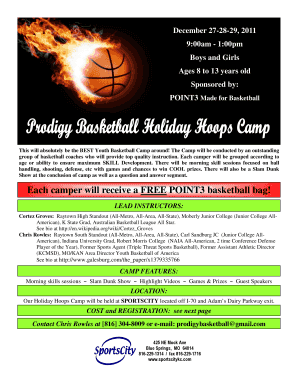 Holiday Camp Flyer - Sports City