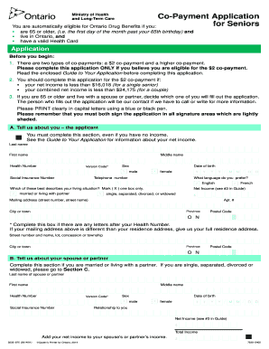 co payment application for seniors 2019