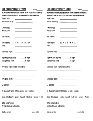 Fillable Online upb illinoisstate Upb graphic request form upb ...