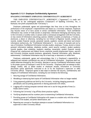 Employee Confidentiality Agreement Pdf. Appendix 3131  Employee  Confidentiality Agreementdoc