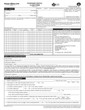 trdp dental claim form pdf