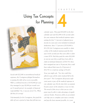 4 Using Tax Concepts for Planning