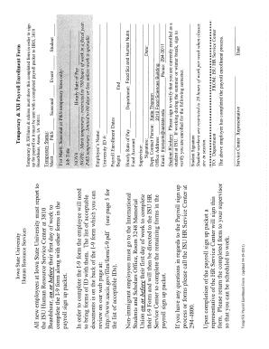 Fillable Online XH Hiring Form (PDF
