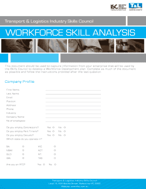 Workforce skill analysis - Transport & Logistics Industry Skills Council - tlisc org