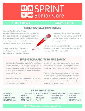 Client news march 2014 spring forward with fire safety client ... - sprintseniorcare