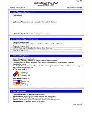material safety data sheet form pdf