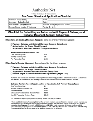Fax Cover Sheet and Application Checklist - Imagine IT