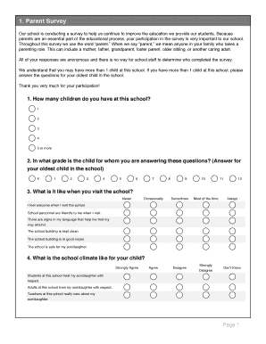 survey examples for students