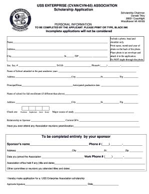 Scholarship Form Pdf