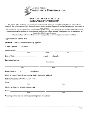 newton treble clef club scholarship application centralkansascf