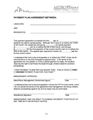 Payment Agreement Template Between Two Parties Forms