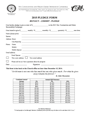 2015 pledge form - Sts Constantine