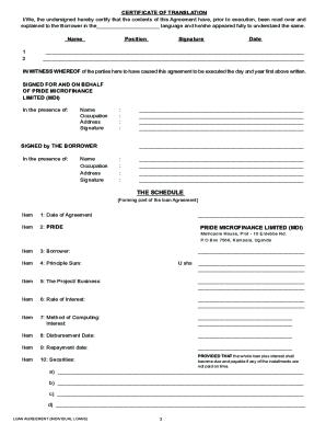 Family Loan Agreement Forms Sample Fill Online Printable Fillable Blank Pdffiller