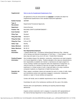 Editable job promotion questionnaire Form Samples Online in PDF
