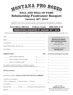 A registration form - Montana Pro Rodeo Hall and Wall of Fame