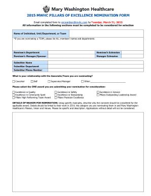 nomination letter for coworker