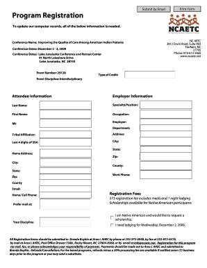 Program Registration   Grhainfoorg