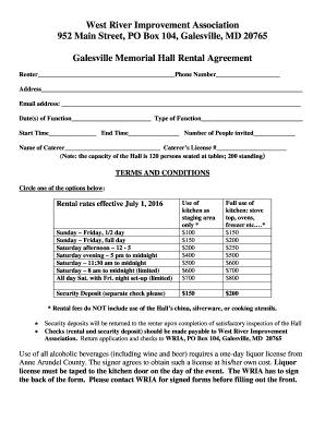 galesville memorial hall rental agreement fill online printable fillable blank. Black Bedroom Furniture Sets. Home Design Ideas