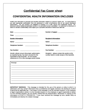 Confidential Fax Coversheet - Wondershare