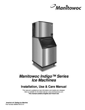 Manitowoc ice machine model b970 manual