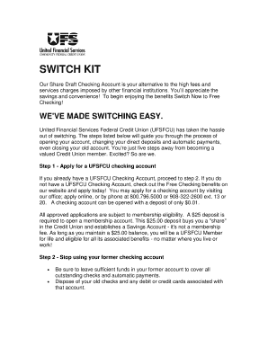 Switch kit - United Financial Services FCU - ufsfcu