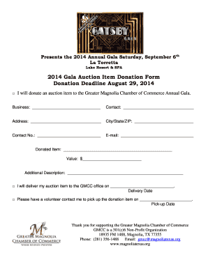 Editable donation form template for non profit fillable donation form template for non profit 2014 gala auction item donation form donation deadline thecheapjerseys Gallery