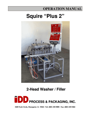 Squire Plus 2 - IDD Processing and Packaging