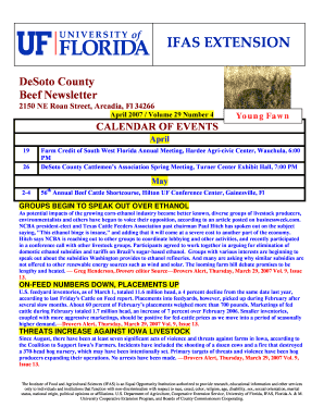 Uf Calendar Of Events.Fillable Online Sfbfp Ifas Ufl Young Fawn Sfbfp Ifas Ufl Fax Email