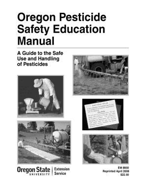 fillable online catalog extension oregonstate oregon pesticide rh pdffiller com Pesticide Awareness Pesticide Safety Eqipment