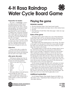 4-H Rosa Raindrop Water Cycle Board Game - Oregon State ...