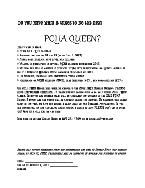 DO YOU HAVE WHAT IT TAKES TO BE THE NEXT bPQHAb QUEEN - pqha