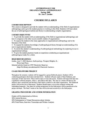 fillable online anthropology unt course syllabus - unt, Powerpoint templates