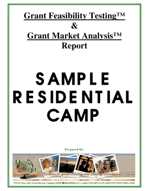 SAMPLE RESIDENTIAL CAMP Grant Feasibility Testing