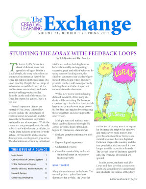 Studying the lorax with feedback loops - Creative Learning Exchange - static clexchange