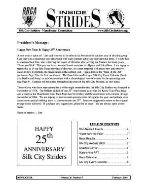 Happy New Year Happy 25th Anniversary - Silk City Striders - silkcitystriders