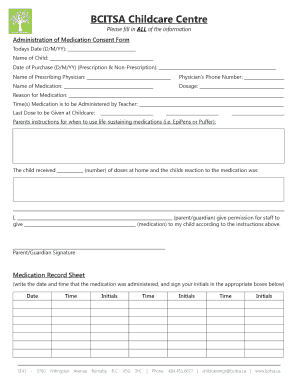 Editable Medical consent form - Fill Out & Print PDF Forms ...