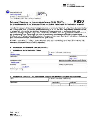 Fillable Online Loaditup Versicherungsnummer 2 9 0 1 0 1 5 0 M 0 0 1
